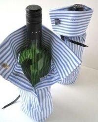 Украсить бутылку вина своими руками