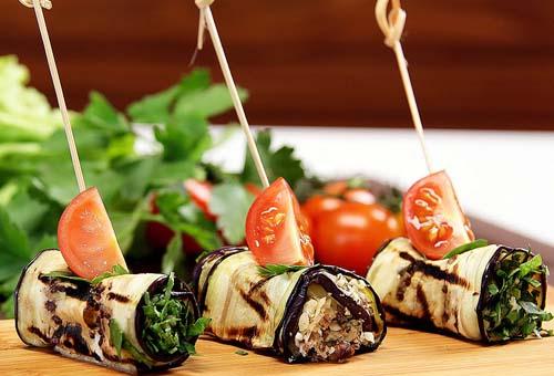 Рулетики из баклажанов с сыром рецепт с пошагово