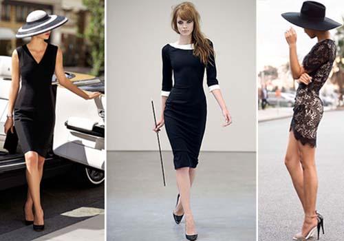 Маленькое черное платье с вырезом