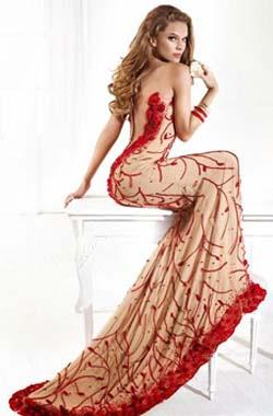 ca202c61934 Платья Tarik Ediz сочетают в себе гламурную усложненность с сексуальной  чувственностью. Роскошные торжественные наряды Tarik Ediz знамениты своей  ...
