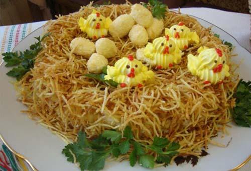 Рецепт салата с гнездо глухаря