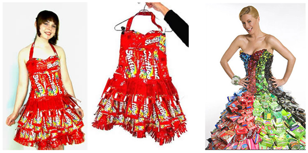 Платье из фантиков как сделать
