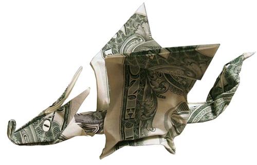 Оригами из денежных купюр